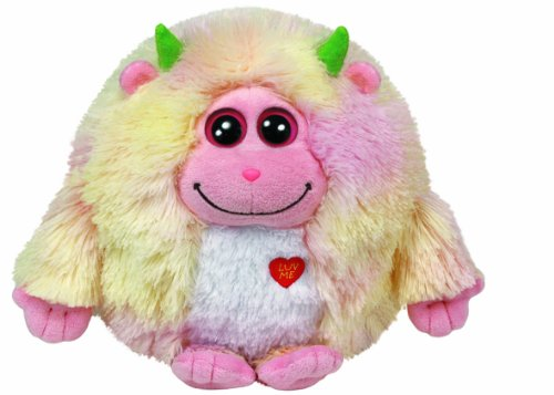 TY Monstaz Lola Plush Toy YELLOW/PINK