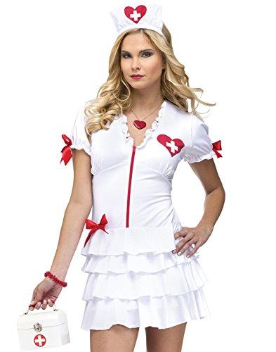 Fun World Costumes Women'S Temperatures Rising Nurse Adult Costume, White/Red, Small/Medium