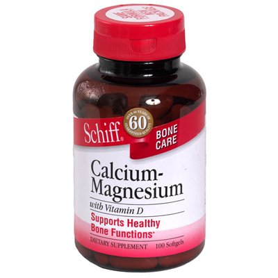 Schiff Natural Calcium Magnesium With Vitamin D - 100 Softgels