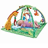 Fisher-Price Rainforest Melodies and Lights Deluxe Gym baby gift idea by Fisher-Price Rainforest Melodies and Lights Deluxe