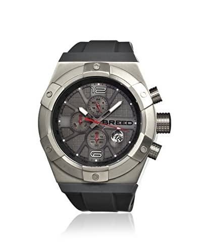 Breed Men's BRD3703 Titan Grey/Charcoal Silicone Watch