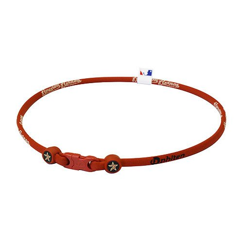 Phiten MLB Houston Astros Red X30 Titanium Necklace - 18 Inch [Misc.]