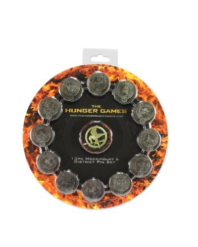 Officially Licensed Product From The Hit Movie The Hunger Games - NECA The Hunger Games Movie Pin Set
