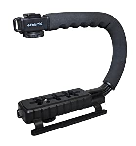 Polaroid Sure-GRIP Professional Camera / Camcorder Action Stabilizing Handle Mount For The Pentax Q, Q7, Q10, K-3, K-50, K-500, X-5, K-01, K-30, K-X, K-7, K-5, K-5 II, K-R, 645D, K20D, K200D, K2000, K10D, K2000, K1000, K100D Super, K110D, *ist D, *ist DL, *ist DS, *ist DS2 Digital SLR Cameras