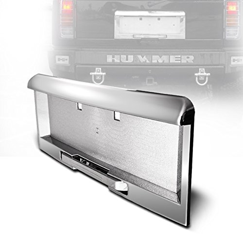 ZMAUTOPARTS Hummer H2 Rear License Plate Frame Mouldings W/Handle 3Pcs Set Chrome (Hummer H2 Parts compare prices)