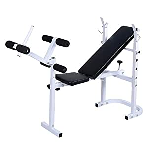 Giantex Body Solid Olympic Folding Weight Bench Incline Lift Workout Press Home Gym