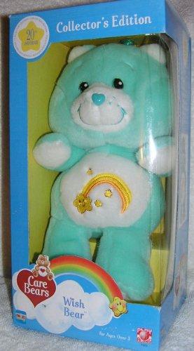"Care Bears Collectors Edition 20Th Anniversary 10"" Wish Bear 2002"