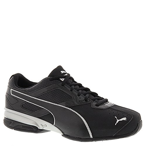 PUMA Men's Tazon 6 Wide FM Cross-Trainer Shoe, Puma Black/Puma Silver, 9.5 W US