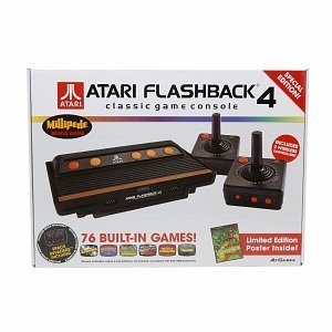 Atari Flashback 4 Classic Video Game Console System, 76 Built-in Games, 40th Anniversary SPECIAL EDITION [Holiday Gifts]
