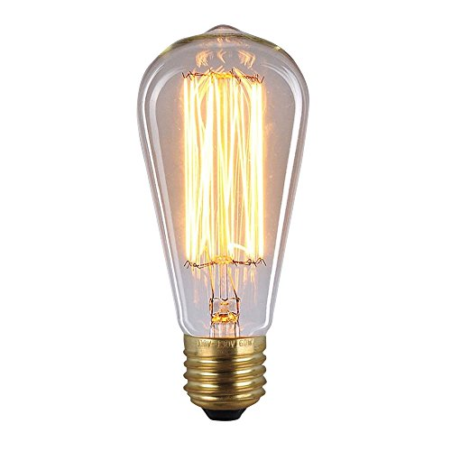 Pack Of 6 Dealighting 60 Watt Dimmable Filament Bulb Long Life 1910 Edison Incandescent Light