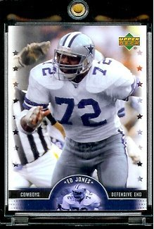 2005 Upper Deck Legends Ed Jones Dallas Cowboys Football Card #10 - Mint Condition - In Protective Display Case !! at Amazon.com