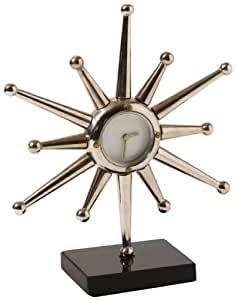 Global Views Star 9-Inch by 3-Inch by 10-1/2-Inch Desk Clock, Small