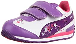 Puma Speeder Girls Light-Up Sneaker (Toddler/Little Kid/Big Kid),Hyacinth/Purple/White/Pink,4 M US Toddler