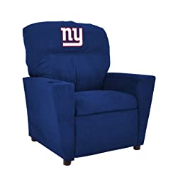 Imperial Officially Licensed NFL Furniture: Pre-Teen Microfiber Recliner, New York Giants