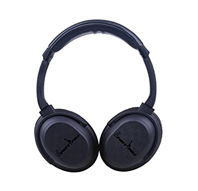 Wireless& Wired Bluetooth Headphones with Active Noise Cancelling, Enhanced Bass, Inline Microphone & up to 12-Hour Battery-Black