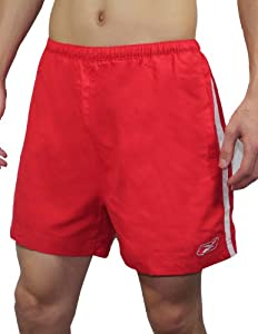 Reebok Mens High Performance Athletic Sports Shorts with Brief Lining XL Red