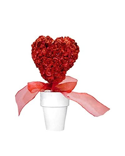 Fantastic Craft Glittery Rose Heart Topiary