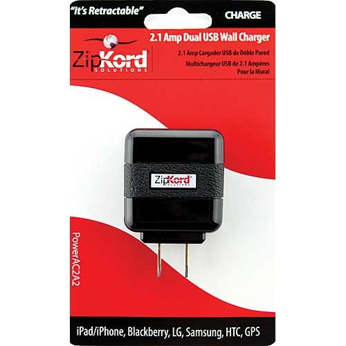 ZipKord Powe(10W) Dual USB Wall Charger