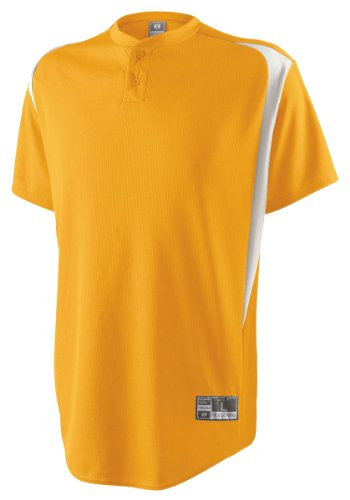 Men'S Two Button Razor Jersey, Light Gold/White, Small