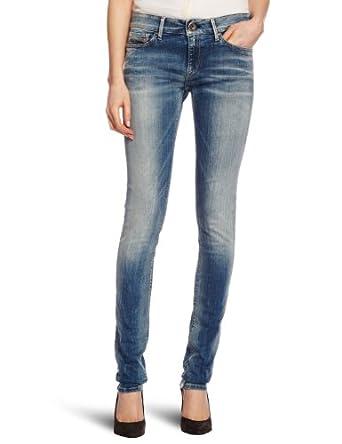 Replay Luz 4 Skinny Women's Jeans Light Blue Heavy Stone Wash W32INxL30IN