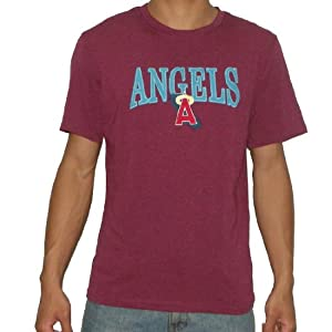 MLB Los Angeles Angels of Anaheim Mens Crew-Neck Cotton T-Shirt by MLB