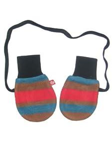 Zutano Cozie Mittens - Bold Stripe/Black-Black-One Size