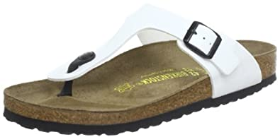 Birkenstock Gizeh, Unisex-Adults' Sandals, White (WEISS), 37 EU, 4 UK