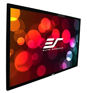 """Elite Screens 120 Inch 16:9 SableFrame Acoustically Transparent Fixed Projector Screen (59""""Hx104.7""""W)"""