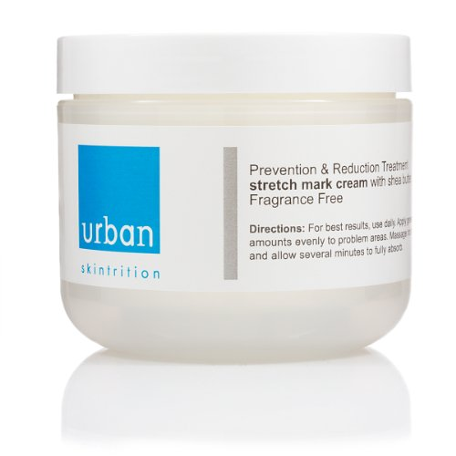 Urban Skintrition Stretch Mark Cream with Shea Butter, Vitamin E, C, added Skin Tighteners and Collagen Repair (Professionally Formulated) 4 oz