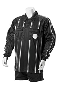 Kwik Goal Premier Referee Long Sleeve Jersey, Black, Small