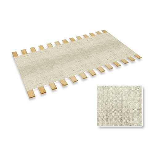 New Full Size Custom Width Bed Slats With A White Burlap Fabric Roll - Choose Your Needed Size - Eliminates The Need For A Link Spring Or Box Spring!