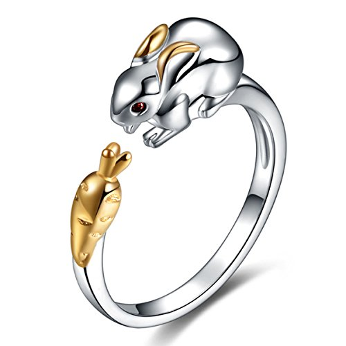 rabbit-ring-sterling-silver-for-women-gold-crystal-cuff-adjustable-chinese-zodiac-jewelry