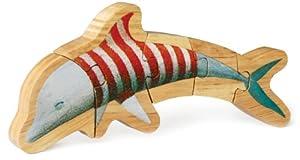 P'kolino 3-D Figurine Puzzle-Dolphin