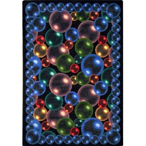 Joy Carpets Kaleidoscope Bubbles Whimsical Area Rugs, 46-Inch by 64-Inch by 0.36-Inch, Rainbow