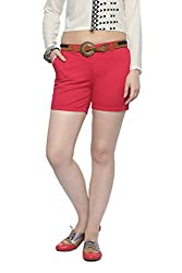 Honey By Pantaloons Women's Cotton Stretch Shorts (301237017_Fuchsia_28)