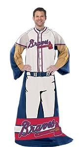 MLB Fleece Comfy Throw MLB Team: Atlanta Braves by Northwest Enterprises