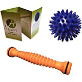 Foot Roller and Porcupine Ball by Heal PT - Portable Foot Massager for Plantar Fasciitis and Acupressure Massage Ball