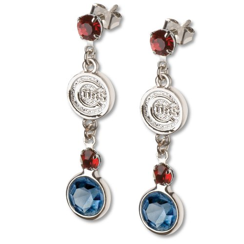 MLB Chicago Cubs Crystal Logo Earrings Picture
