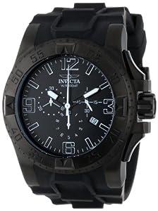 Invicta Men's 11914 Excursion Sport Chronograph Black Dial Black Polyurethane Watch