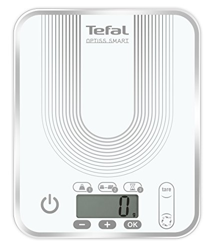 Tefal BC5022S5 Optiss Smart Balance de Cuisine Electronique avec Conversion Automatique 17,5 x 21,5 x 22 cm