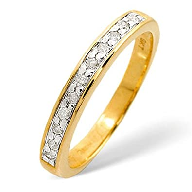 Elina H 9k Yellow Gold Diamond Half Eternity Ring 0.11CT PK-N