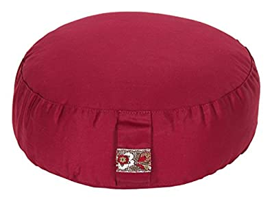 Meditationskissen Glückssitz Basic bordeaux, Ø 33 cm x 15 cm, Bezug und Inlett 100% Baumwolle, Bezug und Inlett maschinenwaschbar bis 30º C