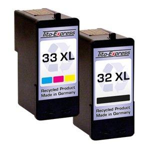 Set 2x Druckerpatrone für Lexmark 14 XL & 15 XL Z2310 Z2300 Z2310 Z2320 PlatinumSerie
