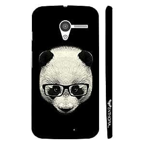 Motorola Moto X Geeky Panda designer mobile hard shell case by Enthopia