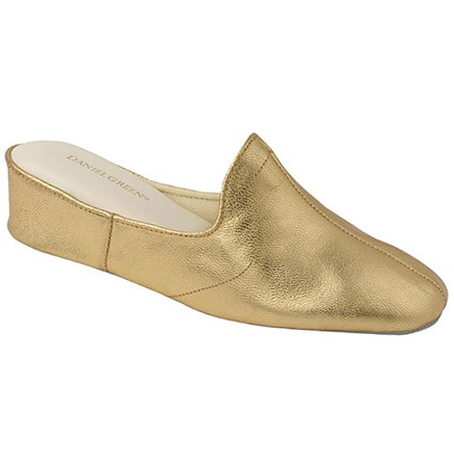 womens gold mule bedroom slippers 5m 14m daniel glamourgld on womens