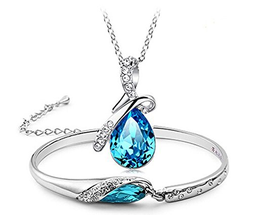 Habors-18K-White-Gold-Plated-Blue-Austrian-Crystal-Pendant-Set-for-WomenJFCOMD031