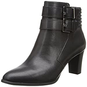 AK Anne Klein Women's Towny Synthetic Boot, Black, 5 M US