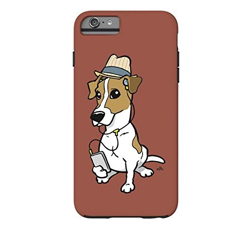 Cartoon Hipster Jack Russell Phone Case [Customizable by Buyers] [Create Your Own Phone Case] Slim Fitted Hard Protector Cover for Samsung Galaxy S6