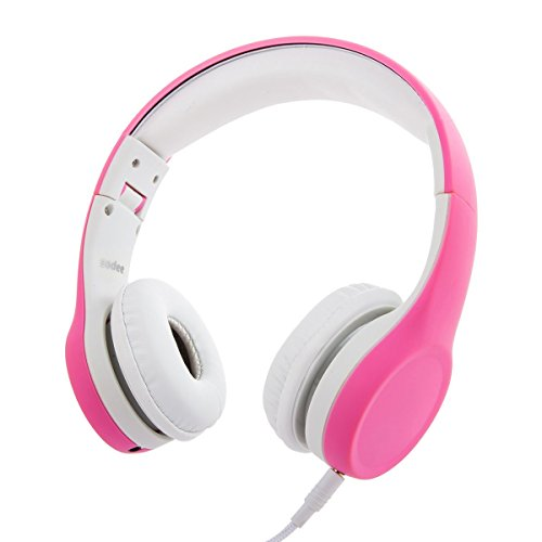 Wired Volume Limited kids Headphones with Share Port and Microphone for Boys Girls Children (Pink) (Gifts For 4 Yr Old Girls compare prices)