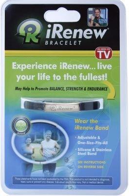 As Seen On TV iRenew Bracelet, Black/Silver (One Size) (3-Pack)